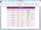 Word Tables Templates Status Table Templates for Word