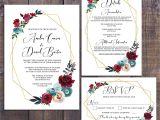 Wording for Details Card Wedding Wedding Suite Wedding Invitation Geometric Invitation