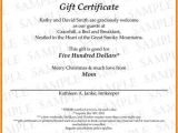 Wording for Gift Certificate Template Gift Certificate Wording Tryprodermagenix org