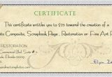 Wording for Gift Certificate Template Photography Gift Certificate Wording Journalingsage Com