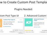 WordPress Create Post Template How to Create Custom Post Templates In WordPress Youtube