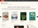 WordPress Templates for Authors 1 Publisher WordPress theme for Writers Authors