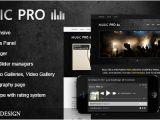 WordPress Templates for Musicians Music Pro Music oriented WordPress theme by Wolf themes