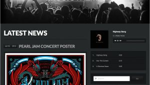 WordPress Templates for Musicians Music theme WordPress themes by organic themes WordPress