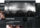 WordPress Templates for Musicians WordPress theme for Musicians by organic themes