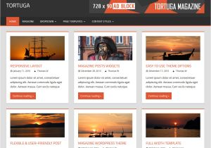WordPress theme Post Template tortuga themezee