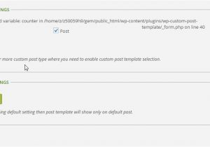 WordPress theme Post Template Wp Post Template Plugin Page Setting Documentation