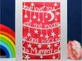 Words to Write In A Love Card to the Moon and Back Personalised Mother S Day Card