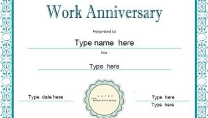 Work Anniversary Certificate Templates Special Certificates Work Anniversary