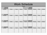 Work Calendars Templates Monthly Schedule Template Cyberuse