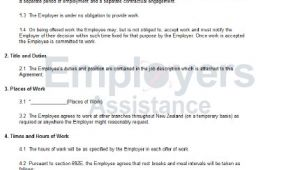 Work Contract Template Nz Casual Employment Contract Agreement Employers