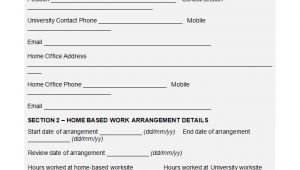 Work From Home Contract Template Hr Agreement Template 16 Free Word Pdf Document
