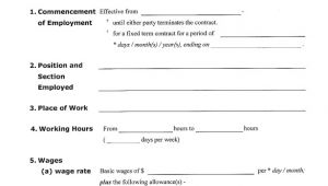 Working Contract Template 23 Sample Employment Contract Templates Docs Word