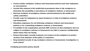 Workplace Violence and Harassment Risk assessment Template Download Workplace Violence and Harassment Risk assessment