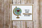 World Teachers Day Thank You Card Teacher Appreciation Teacher Thank You Card Thank You Card