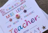 World Teachers Day Thank You Card Thank You Personalised Teacher Card Special Teacher Card