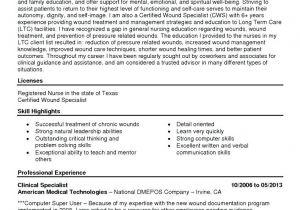 Wound Care Nurse Resume Sample Wound Nurse Cover Letter Sarahepps Com