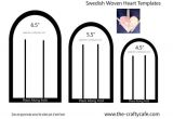 Woven Heart Basket Template Swedish Woven Hearts Template Preview Photo Do In Red and