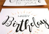 Write Name On Card Birthday Geburtstagskarte Lettering Kreative Geburtstagskarten