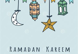 Write Name On Eid Card Arabic Moon Shape Paper Cutout with Illustration Of Hanging