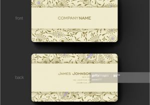 Write Name On Eid Card Businesskarte Vektor Vorlage Hintergrund Mit Floral ornament