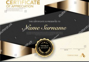 Write Name On Eid Card Diploma Certificate Template Black Gold Color Stock