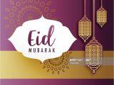 Write Name On Eid Card Kreative Eid Festival Grua Mit Hangelampen Stock