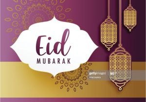 Write Name On Eid Card Kreative Eid Festival Grua Mit Hangelampen Stock