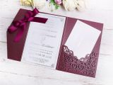 Write Name On Engagement Invitation Card 2019 New 3 Folds Wedding Burgundy Invitations Cards with
