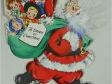 Write Name On Xmas Card Vintage Hallmark Hall Bros Christmas Card 1945 Santa Claus