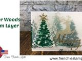Write Name On Xmas Card Winter Woods Layer with Vellum All Product by Stampin Up