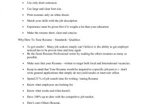 Writing A Basic Resume Resume Preparation Writing Basic Outlines