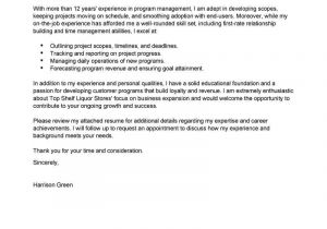 Writing A Cover Letter for A Management Position Best Management Cover Letter Examples Livecareer