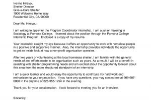 Writing A Cover Letter for College Admissions Writing A Cover Letter for College Application