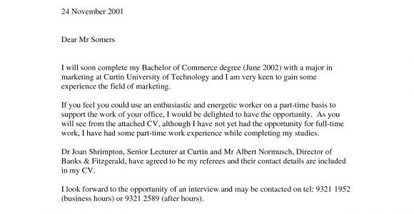 Writing A Cover Letter for Work Experience Cover Letter No Work Experience the Letter Sample
