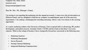Writing A Good Cover Letter for An Internship Internship Cover Letter Sample Resume Genius