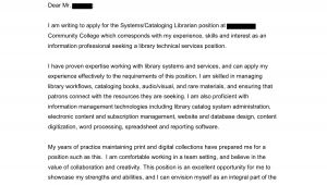Writing An Open Cover Letter Cataloging Open Cover Letters