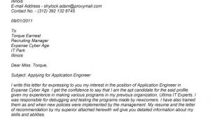 Writing Good Cover Letters for Job Applications Writing A Cover Letter for A Job Application Examples