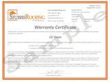 Written Guarantee Template 10 Year Warranty Stubbs Roofing Tallahassee