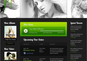 Www Templatemonster Com Free Templates Free Music Website Template