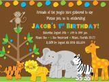 Www.uprint.com Templates Friends Of the Jungle Safari Birthday Invitation