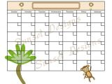 Www.uprint.com Templates Items Similar to Jungle Monkey Calendar Template Pdf