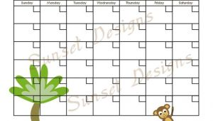Www.uprint.com Templates Items Similar to Jungle Monkey Calendar Template Pdf