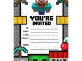 Www.uprint.com Templates Minecraft Party Invitations Birthday Invites Blank Fill In