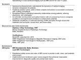 X-ray Tech Student Resume for X Ray Technologist Crochet Professional Resume