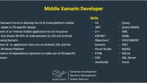 Xamarin Developer Resume Sample Mobile Xamarin Developer Salary Cost and Resume Samples
