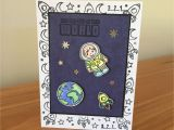 Xbox 360 Happy Birthday Card astronaut Birthday Card Space Birthday Card Childs