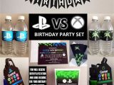 Xbox Birthday Card for Sale Playstation Vs Xbox theme Party Set Gamer Party Printable