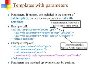 Xsl Named Template Xslt 11 Apr Ppt Download