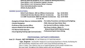 Yacht Captain Resume Sample Mestier Latest Resume